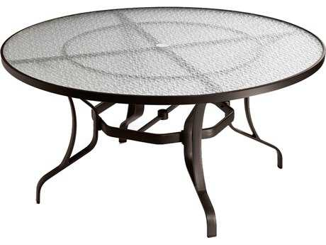 Tropitone Cast Aluminum 54 Round Dining Table with Umbrella Hole TP500054GU