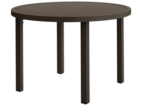 Tropitone Filo Aluminum 30''Wide Round KD Dining Table with Umbrella Hole