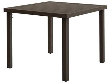 Tropitone Filo Aluminum 36''Wide Square KD Dining Table with Umbrella Hole
