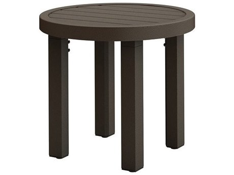 Tropitone Filo Aluminum 16''Wide Round KD Tea Table