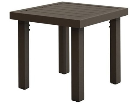 Tropitone Filo Aluminum 20'' Square KD Tea Table