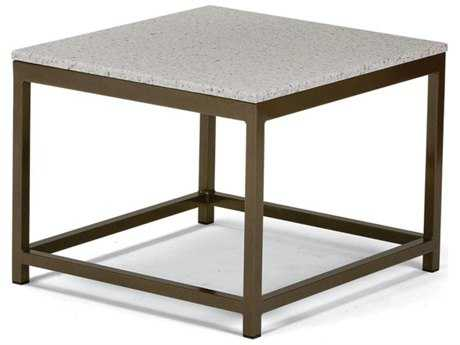 Tropitone Cabana Club Aluminum 24''Wide Square Granite Top End Table