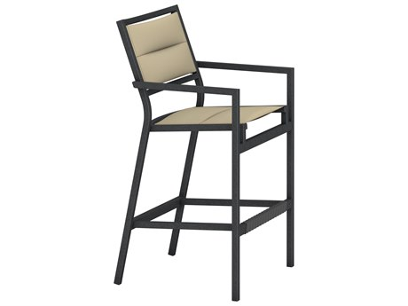 Tropitone Cabana Club Aluminum Padded Sling Bar Stool