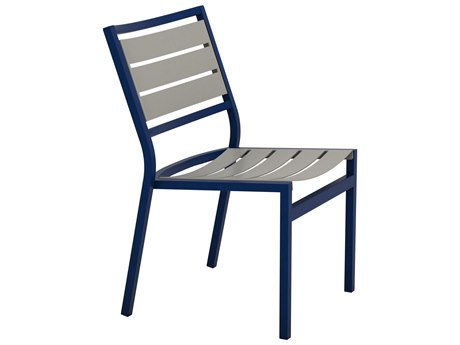 Tropitone Cabana Club Aluminum Slat Dining Side Chair