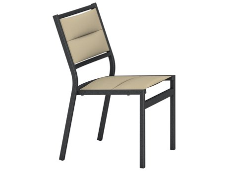 Tropitone Cabana Club Aluminum Padded Sling Dining Side Chair