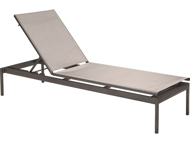 Tropitone Cabana Club Aluminum Relaxed Sling Stackable Chaise Lounge PatioLiving