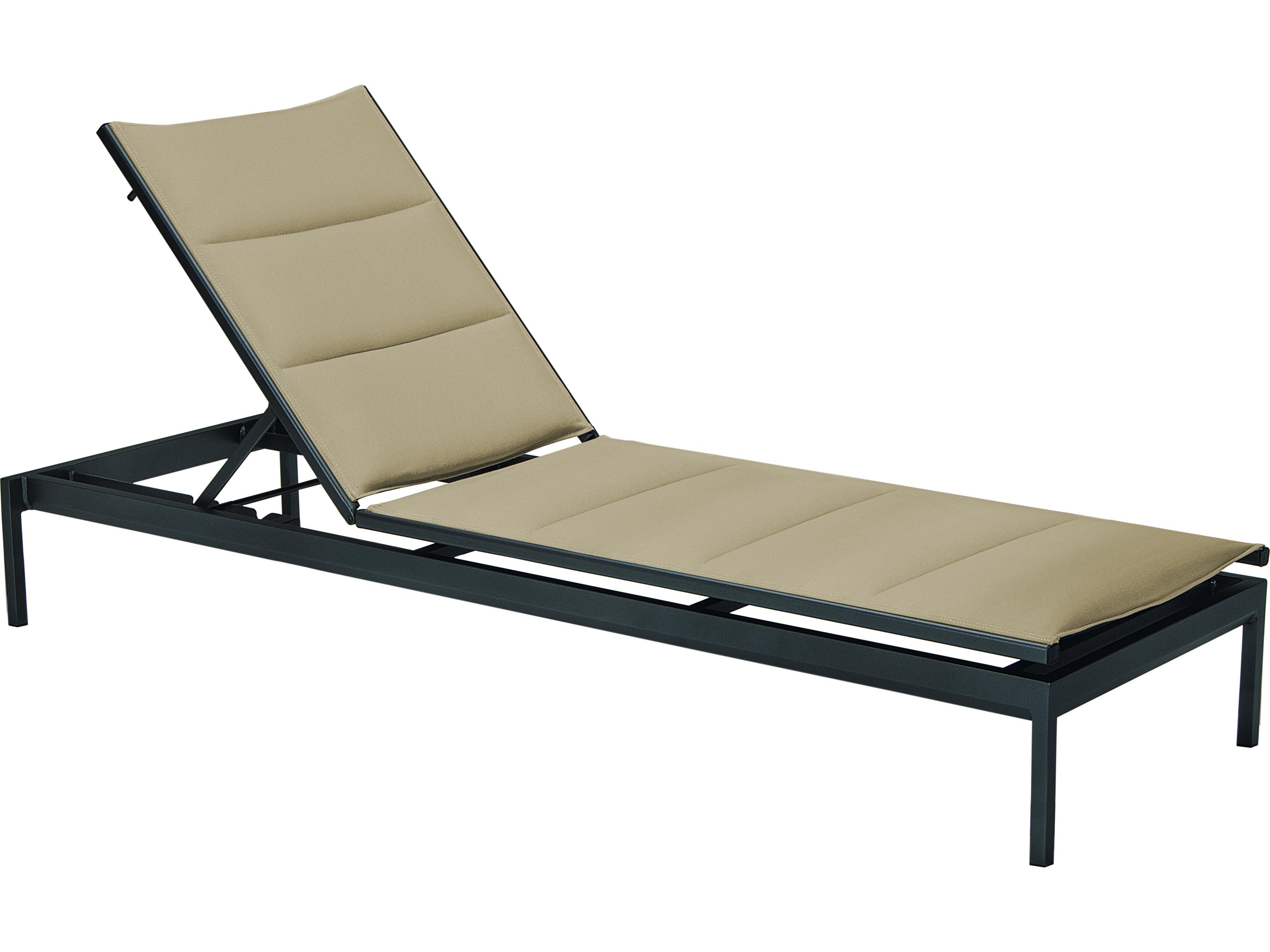 Tropitone cabana club aluminum sling side chaise lounge for Chaise longue textilene alu