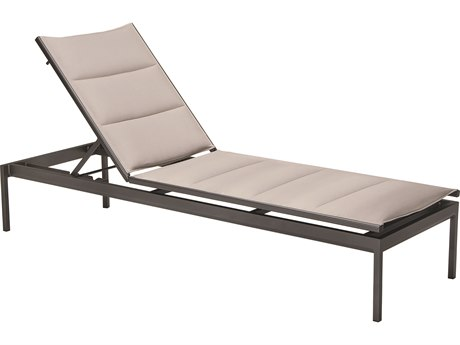 Tropitone Cabana Club Aluminum Padded Sling Stackable Chaise Lounge
