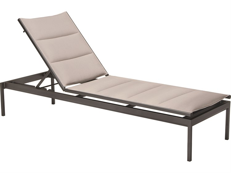Tropitone Cabana Club Aluminum Padded Sling Stackable Chaise Lounge PatioLiving