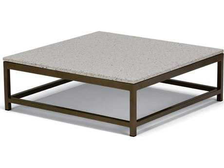Tropitone Cabana Club Aluminum 34''Wide Square Granite Top Coffee Table