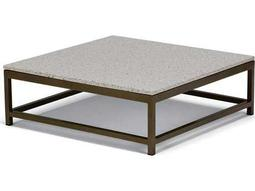 Cabana Club Aluminum 34''Wide Square Granite Top Coffee Table