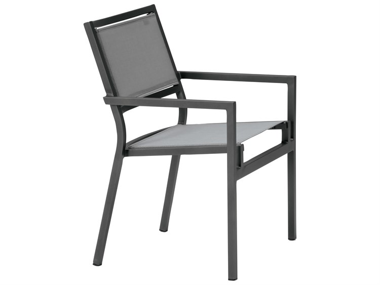 Tropitone Cabana Club Aluminum Sling Dining Arm Chair PatioLiving