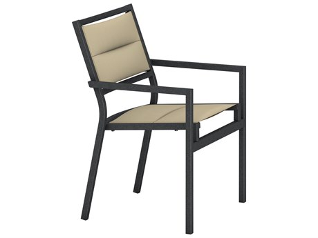 Tropitone Cabana Club Aluminum Padded Sling Dining Arm Chair