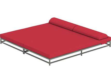Tropitone Cabana Club Aluminum Cushion Party Lounge Bed With Headrest