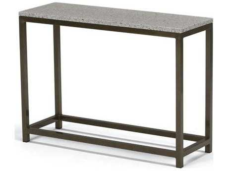 Tropitone Cabana Club Aluminum 34''W x 12''D Rectangular Granite Top Console Table