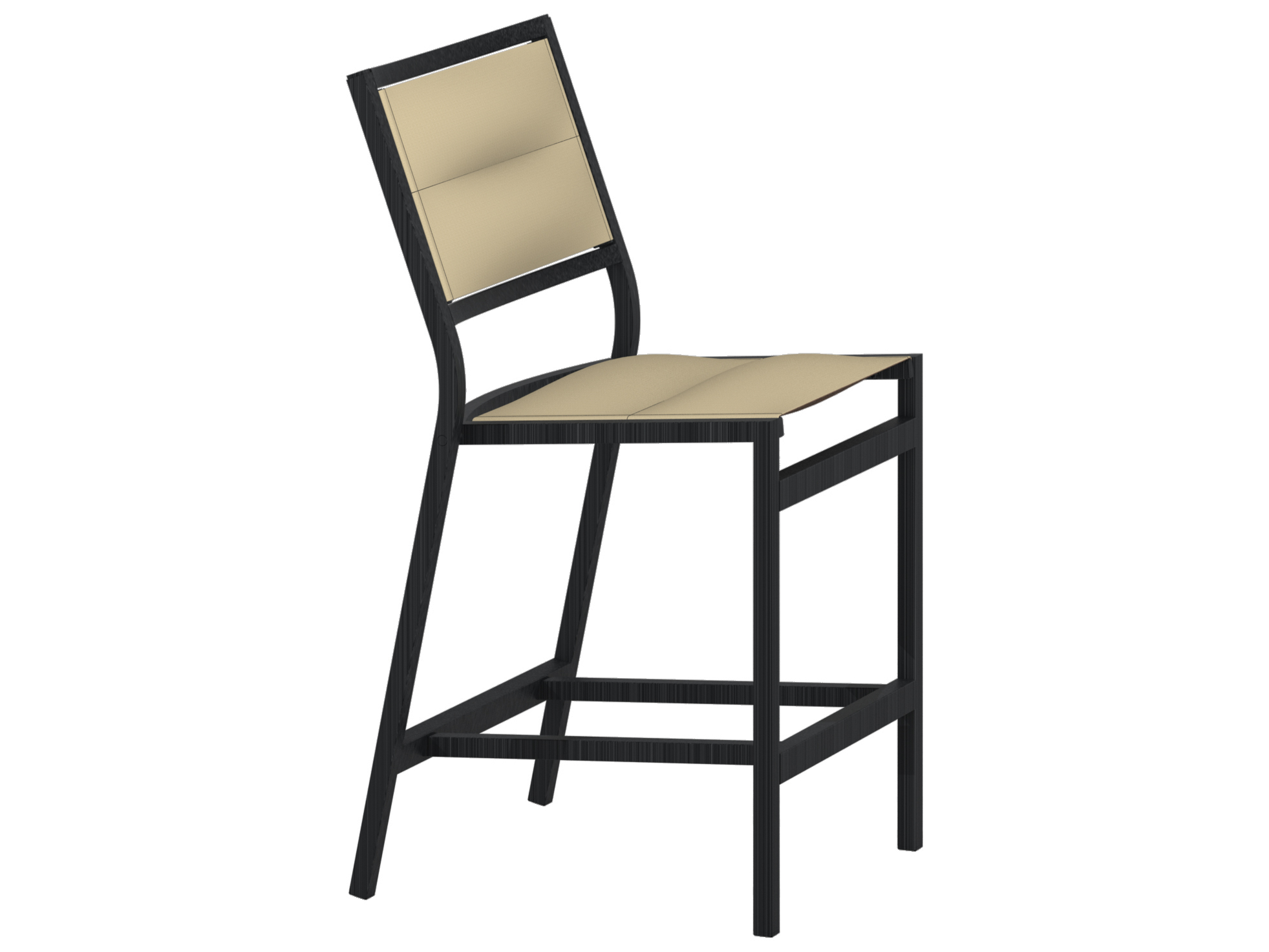 Fantastic Tropitone Cabana Club Aluminum Padded Sling Armless Stationary Counter Height Andrewgaddart Wooden Chair Designs For Living Room Andrewgaddartcom