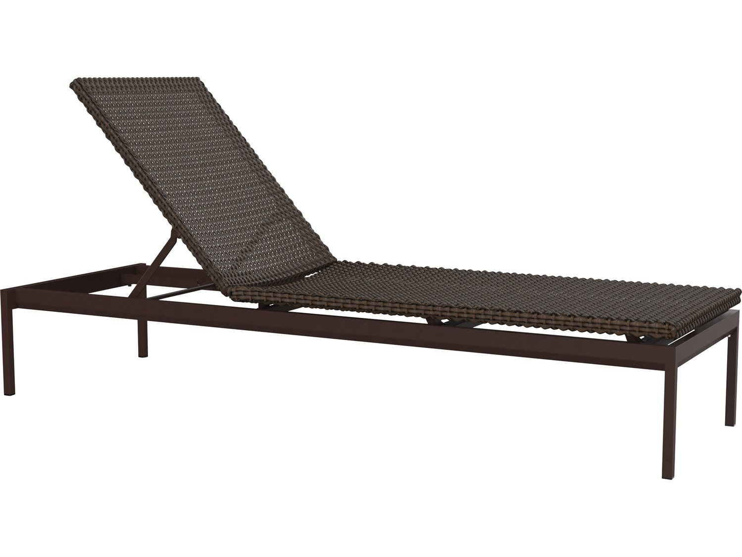 Tropitone cabana club woven chaise lounge armless for Armless chaise longue