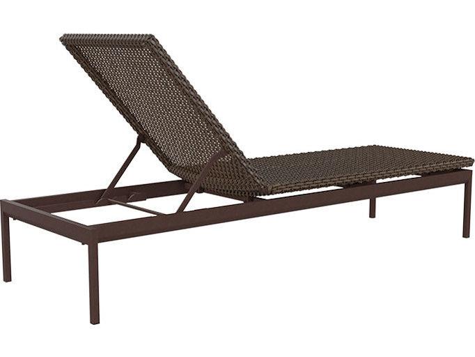 Winston Southern Cay Sling Aluminum Armless Chaise Lounge: Tropitone Cabana Club Woven Chaise Lounge Armless