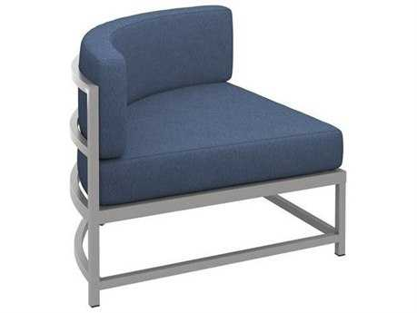 Tropitone Cabana Club Aluminum Cushion Curved Corner Lounge Chair