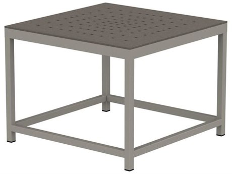 Tropitone Cabana Club Patterned Aluminum 24 Square End Table