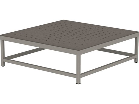 Tropitone Cabana Club Patterned Aluminum 34 Square Coffee Table