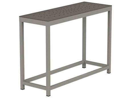 Tropitone Cabana Club Patterned Aluminum 34 x 12 Rectangular Sofa Table