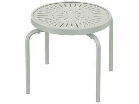 Tropitone Patterned La'stratta Aluminum 20''Wide Round Stacking Tea Table