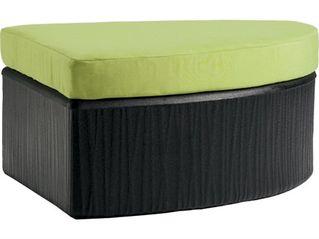 Tropitone Mobilis Curved Recycled Plastic Ottoman