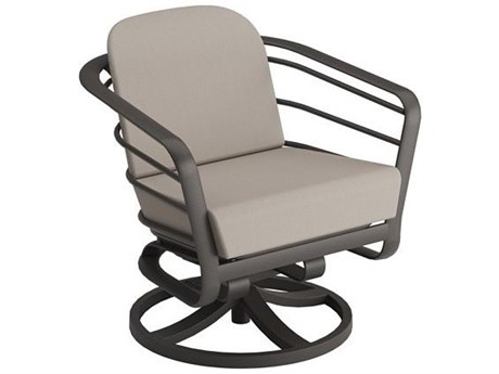 Tropitone Prime Cushion Relaxplus Aluminum Swivel Rocker Lounge Chair