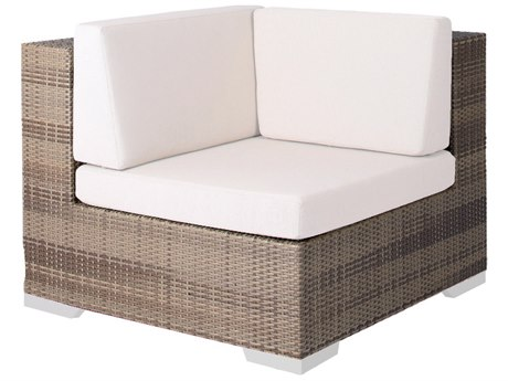 Tropitone Arzo Woven Cushion Corner Lounge Chair PatioLiving