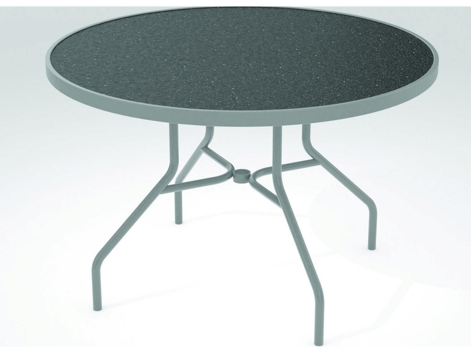 Tropitone Hpl Raduno Aluminum 42 Round Dining Table