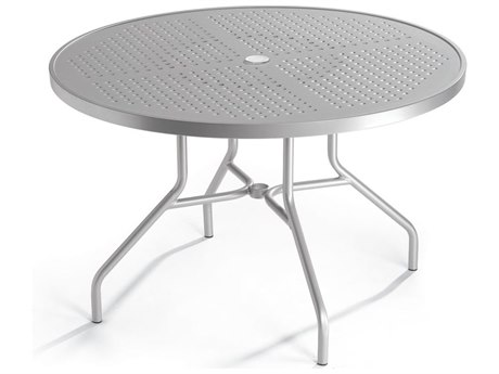 Tropitone Boulevard Aluminum 42 Round Dining Table with Umbrella Hole TP646NSBU