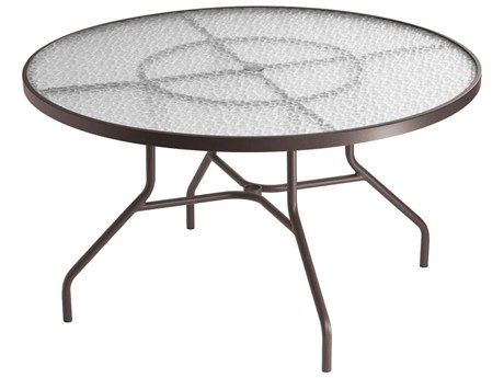 Tropitone Cast Aluminum 48 Round Dining Table with Umbrella Hole