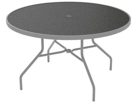 Tropitone Hpl Raduno Aluminum 48 Round Dining Umbrella Table