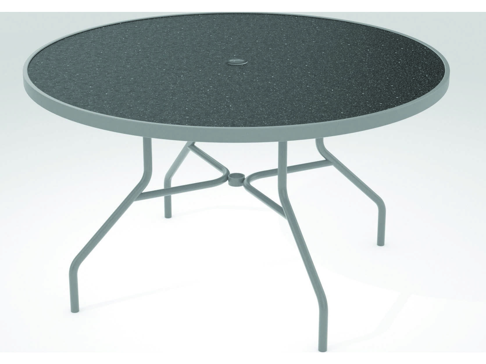 Tropitone Hpl Raduno Aluminum 48 Round Dining Umbrella Table Tp647nhu
