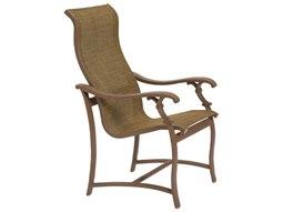 Tropitone Ravello Sling Aluminum High Back Dining Arm Chair