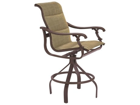 Tropitone Ravello Padded Sling Aluminum Swivel Bar Stool