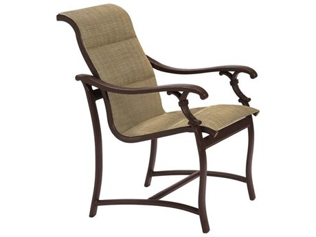 Tropitone Ravello Padded Sling Aluminum Dining Arm Chair