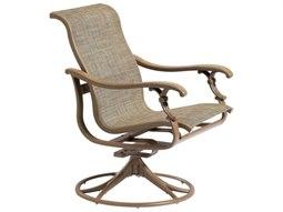 Tropitone Ravello Sling Aluminum Swivel Rocker Dining Arm Chair