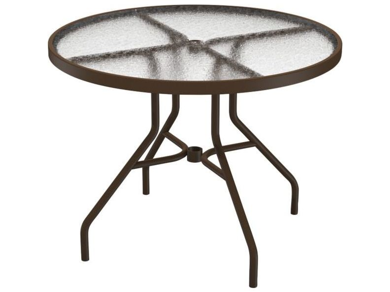 Tropitone Cast Aluminum 36 Round Dining Table With