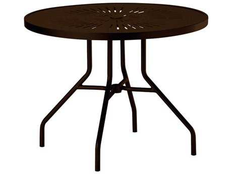 Tropitone La Stratta Aluminum 36 Round Dining Table with Umbrella Hole