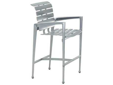 Tropitone Veer Cast  Aluminum Bar Stool