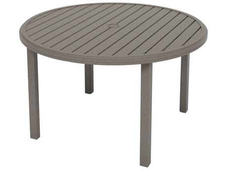 Tropitone Amici Aluminum 48''Wide Round KD Dining Table with Umbrella Hole
