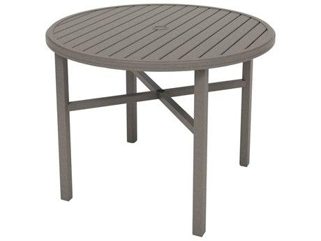 Tropitone Amici Aluminum 48''Wide Round KD Counter Table with Umbrella Hole TP691848U34