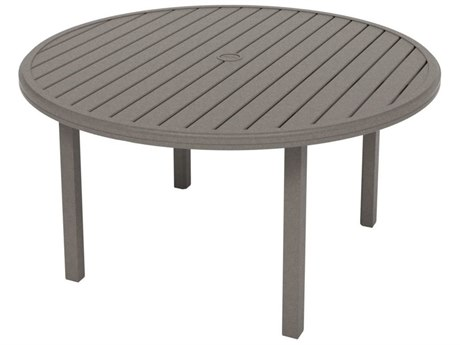Tropitone Amici Aluminum 54''Wide Round KD Dining Table with Umbrella Hole