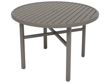 Tropitone Amici Aluminum 54''Wide Round KD Counter Table with Umbrella Hole