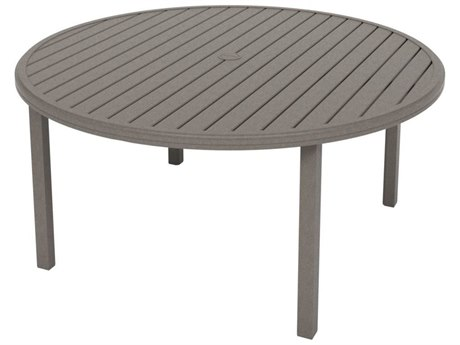 Tropitone Amici Aluminum 60''Wide Round KD Dining Table with Umbrella Hole