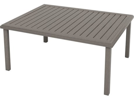 Tropitone Amici Aluminum 54''W x 42''D Rectangular KD Chat Table