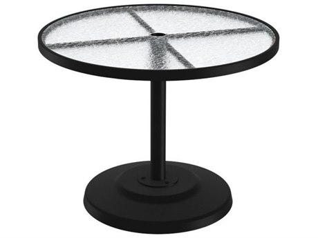 Tropitone Cast Aluminum 36 Round KD Pedestal Dining Umbrella Table