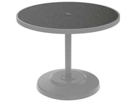 Tropitone Hpl Raduno Aluminum 36 Round KD Dining Table with Umbrella Hole
